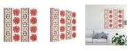 "Trademark Global Daphne Brissonnet Country Poinsettias Step 06A Canvas Art - 20"" x 25"""