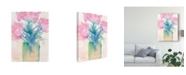 "Trademark Global Samuel Dixon Pretty Pink Flowers II Canvas Art - 15"" x 20"""