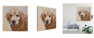 "Trademark Global Edie Fagan Chelsea Golden Retriever Canvas Art - 15"" x 20"""