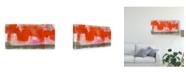 "Trademark Global Jennifer Goldberger Red, Pink and Grey IV Canvas Art - 15"" x 20"""