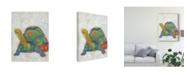 "Trademark Global Chariklia Zarris Turtle Friends II Canvas Art - 20"" x 25"""