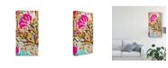 """Trademark Global Karen Fields Pink Boho Floral I Canvas Art - 37"""" x 49"""""""
