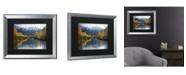 """Trademark Global Pierre Leclerc Autumn River Matted Framed Art - 20"""" x 25"""""""