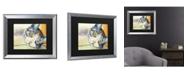 """Trademark Global Pat Saunders-White Sunbather Matted Framed Art - 20"""" x 25"""""""