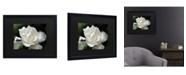 """Trademark Global Kurt Shaffer Lovely Gardenia Matted Framed Art - 15"""" x 20"""""""