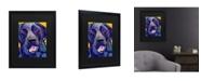 "Trademark Global Pat Saunders-White Buddy Matted Framed Art - 15"" x 20"""