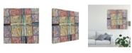 "Trademark Global Nikki Galapon Dot Pattern Canvas Art - 20"" x 25"""