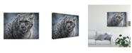 "Trademark Global Patrick Lamontagne Snow Leopard Totem Canvas Art - 20"" x 25"""