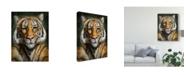 "Trademark Global Patrick Lamontagne Tiger Totem Canvas Art - 20"" x 25"""