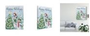 "Trademark Global Mary Urban Classic Snowmen VI Canvas Art - 20"" x 25"""