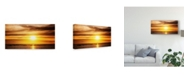 "Trademark Global Pixie Pics Sunset Coastline Canvas Art - 20"" x 25"""
