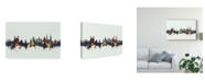 "Trademark Global Michael Tompsett Lucerne Switzerland Luzern Skyline IV Canvas Art - 37"" x 49"""