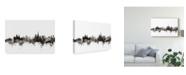 "Trademark Global Michael Tompsett Lausanne Switzerland Skyline Black White Canvas Art - 20"" x 25"""