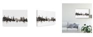"""Trademark Global Michael Tompsett Schaffhausen Switzerland Skyline Black White Canvas Art - 20"""" x 25"""""""