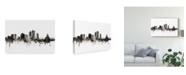 "Trademark Global Michael Tompsett Cedar Rapids Iowa Skyline Black White Canvas Art - 37"" x 49"""