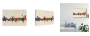 "Trademark Global Michael Tompsett Koblenz Germany Skyline Canvas Art - 37"" x 49"""