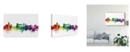 "Trademark Global Michael Tompsett Rome Italy Skyline Rainbow Canvas Art - 37"" x 49"""