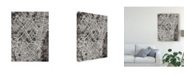 "Trademark Global Michael Tompsett Bogota Colombia City Map Black Canvas Art - 20"" x 25"""
