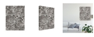 "Trademark Global Michael Tompsett Stuttgart Germany City Map Black Canvas Art - 20"" x 25"""