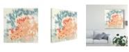 "Trademark Global Jennifer Goldberger Blueberry and Coral Field I Canvas Art - 20"" x 25"""