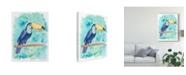 "Trademark Global Regina Moore Sweet Tropical Bird I Canvas Art - 20"" x 25"""