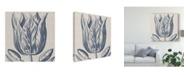 "Trademark Global Vision Studio Indigo Floral on Linen VI Canvas Art - 15"" x 20"""