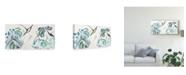 "Trademark Global Nan Rae Lotus Study with Blue Green III Canvas Art - 15"" x 20"""