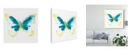 "Trademark Global June Erica Vess Butterfly Traces III Canvas Art - 15"" x 20"""