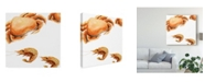 "Trademark Global Rick Novak Illustrated Crab Canvas Art - 20"" x 25"""