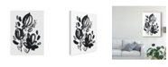 "Trademark Global June Erica Vess Cameo Bloom VI Canvas Art - 20"" x 25"""
