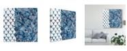 "Trademark Global Chariklia Zarris Cobalt Garden III Canvas Art - 15"" x 20"""