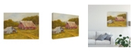 "Trademark Global Marilyn Wendling Country Barns Canvas Art - 37"" x 49"""