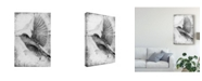 "Trademark Global Ingrid Blixt B&W Flight II Canvas Art - 37"" x 49"""