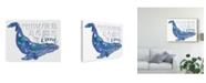 "Trademark Global Catherine Mcguire Whale Love II Canvas Art - 20"" x 25"""