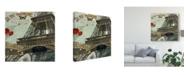 "Trademark Global Sandy Lloyd Eiffel Romance IV Canvas Art - 15"" x 20"""