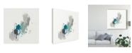 "Trademark Global June Erica Vess Teal Gesture II Canvas Art - 15"" x 20"""