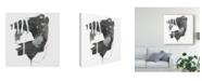 "Trademark Global June Erica Vess Gray Scale II Canvas Art - 27"" x 33"""