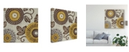 "Trademark Global Chariklia Zarris Golden Array II Canvas Art - 27"" x 33"""