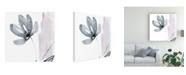 "Trademark Global Jennifer Goldberger Ua Ch Blush Flower Splash I Canvas Art - 15"" x 20"""