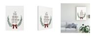 "Trademark Global Victoria Borges Yuletide Animals I Canvas Art - 15"" x 20"""