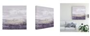 "Trademark Global Jennifer Goldberger Amethyst Glitter II Canvas Art - 27"" x 33"""