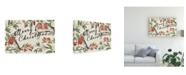 """Trademark Global Janelle Penner Christmas Lovebirds I Canvas Art - 37"""" x 49"""""""