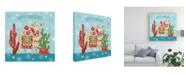 """Trademark Global Mary Urban Lovely Llamas Christmas IV Canvas Art - 27"""" x 33"""""""