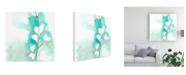 "Trademark Global June Erica Vess Teal and Ochre Ginko III Canvas Art - 27"" x 33"""