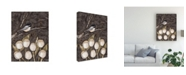 "Trademark Global Jade Reynolds Chickadee and Tulips I Canvas Art - 20"" x 25"""