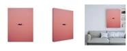 """Trademark Global Design Fabrikken Pink Flight Fabrikken Canvas Art - 15.5"""" x 21"""""""