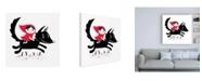"Trademark Global Michael Buxton Red Riding Canvas Art - 19.5"" x 26"""
