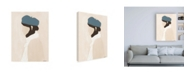"Trademark Global Megan Galante Blue Beret Canvas Art - 19.5"" x 26"""
