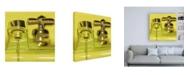 """Trademark Global Roderick Stevens Yellow Faucet Canvas Art - 15.5"""" x 21"""""""