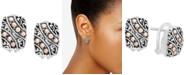 EFFY Collection EFFY® Filigree Drop Earrings in Sterling Silver & 18k Rose Gold